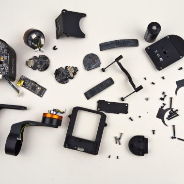 Exploded view of all components