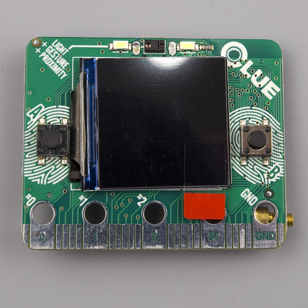 Front side featuring 240x240 IPS TFT Display